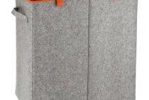 Wäschesammler Duo Filz Orange von Wenko