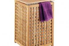 Zeller Wäschetruhe Bambus – 40 x 40 x 58 cm, Bamboo